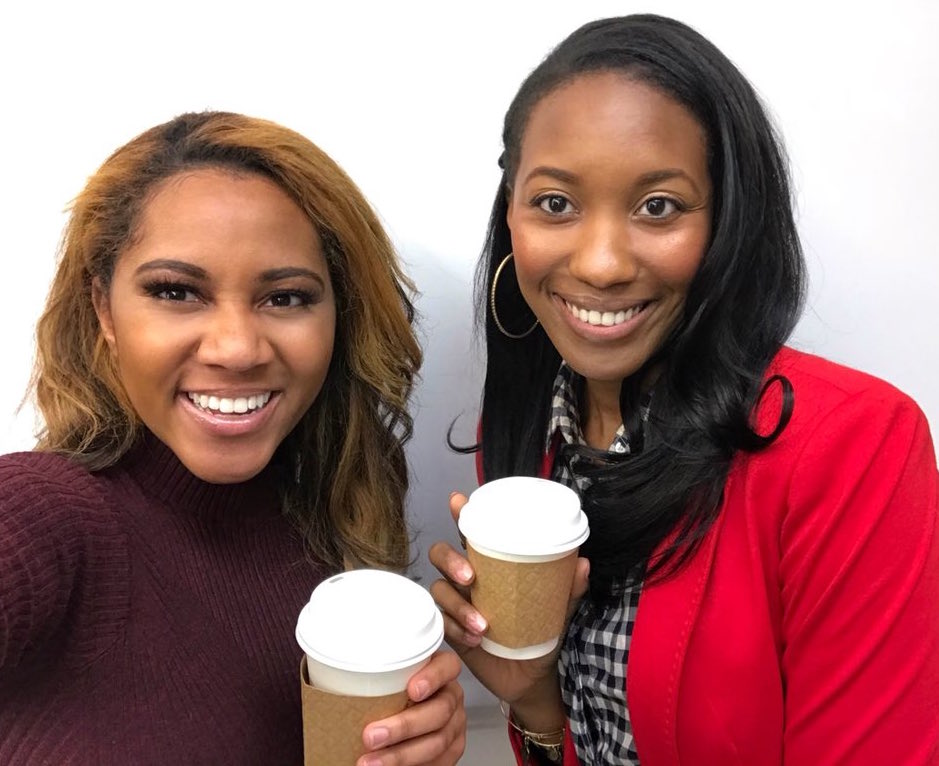 Kay Angrum (left) with Joi-Marie McKenzie (right) at ABC News in New York.