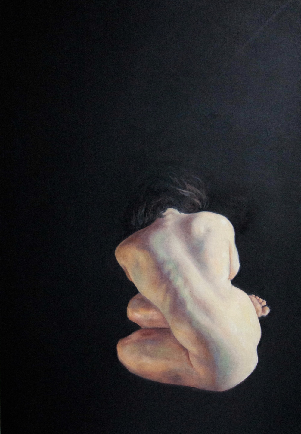 "Kim II, 58x40"", Oil on Canvas, 2015"