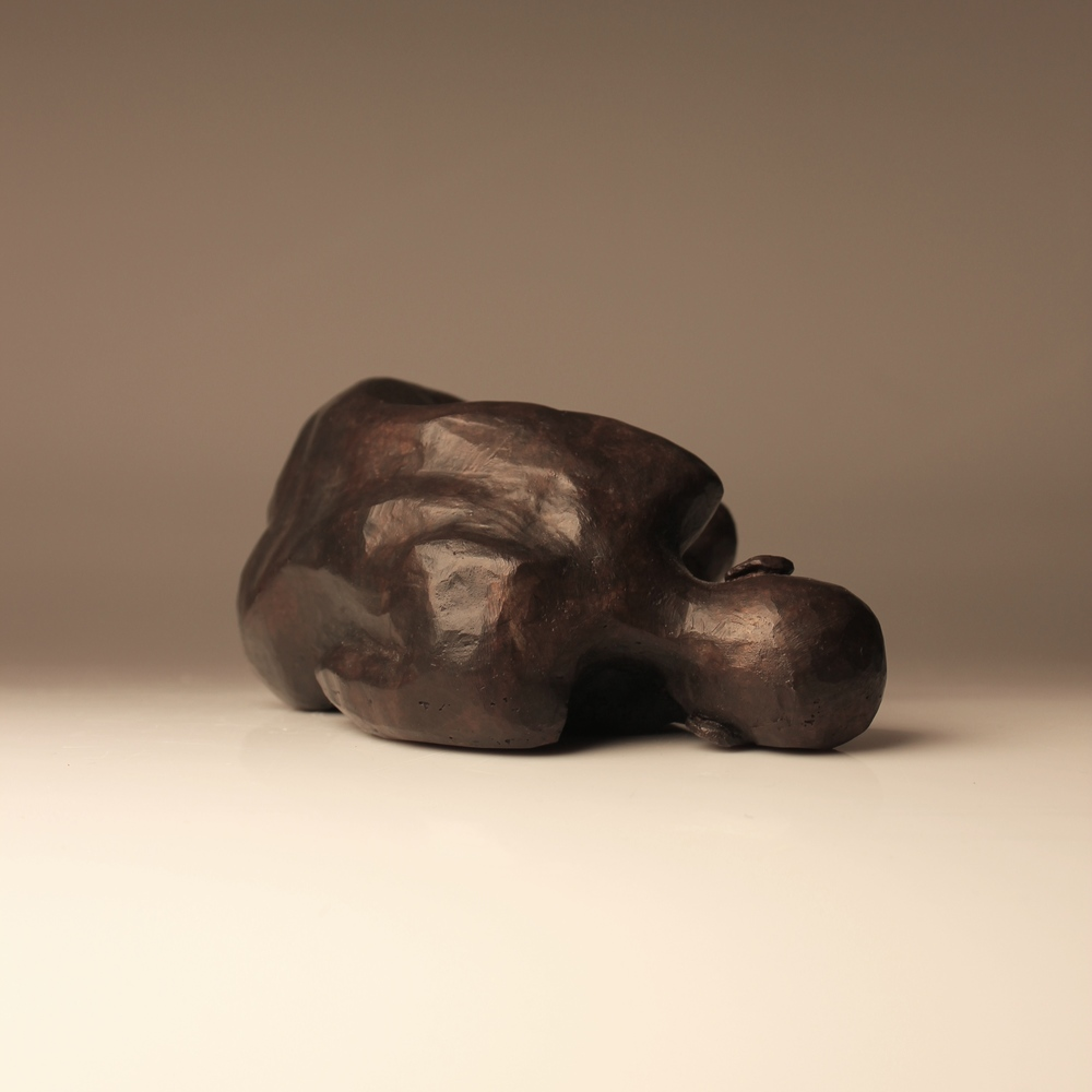 "Compaction I, 6x4x2"", Bronze, 2015 (Edition of 2)"