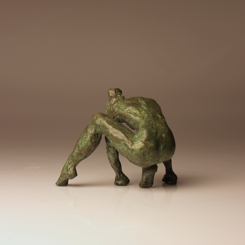 "Grounded, 4x3x3"", Bronze, 2016 (Edition of 2)"