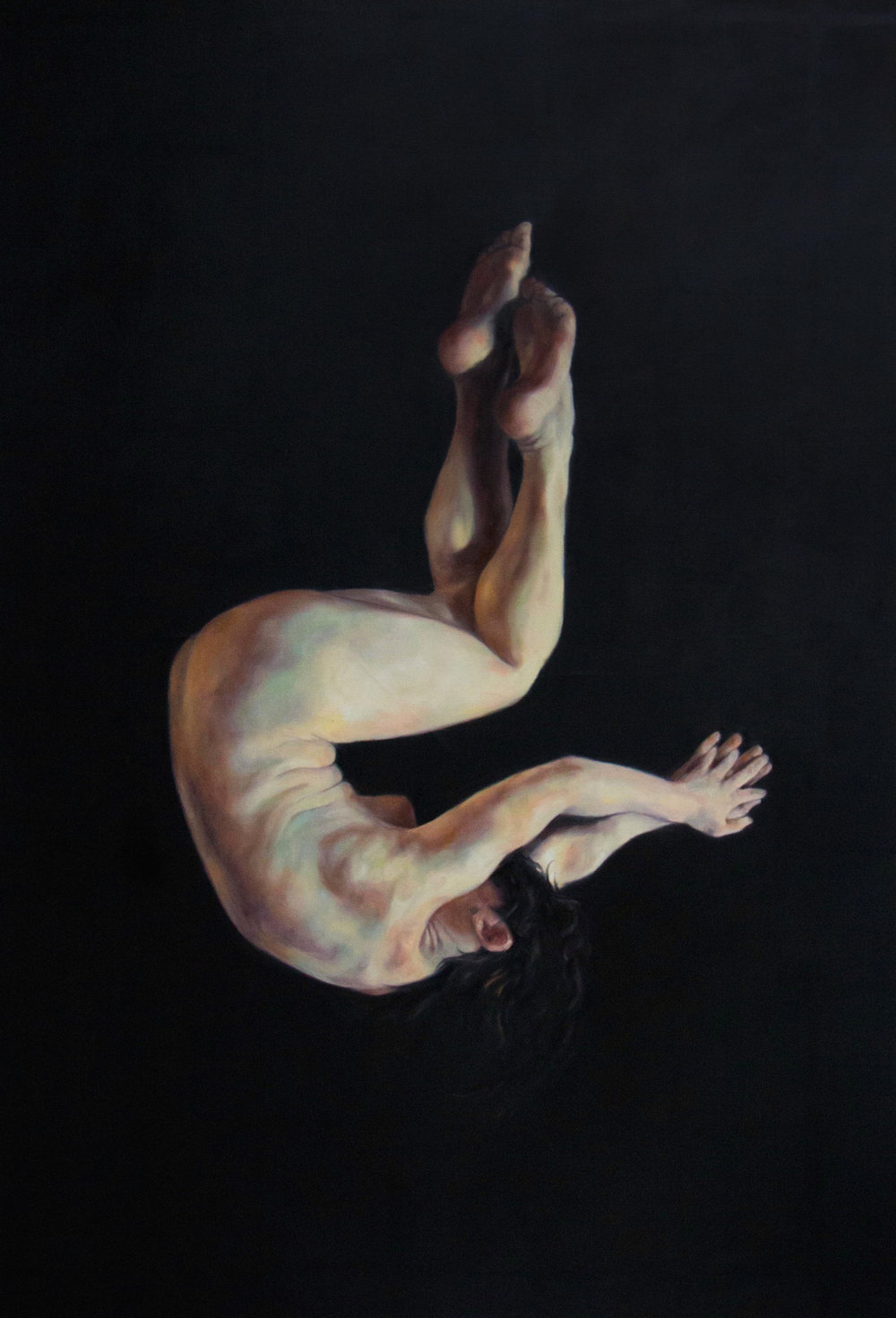 "Kim I, 58x40"", Oil on Canvas, 2015"