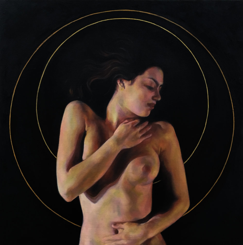 "Orbit, Oil on Linen, 24x24"", 2017"