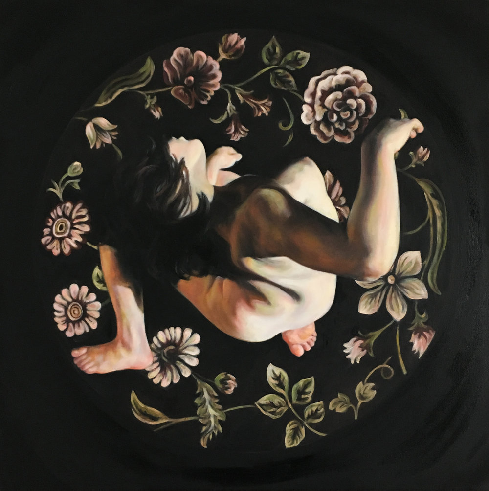 "Bloom, Oil on Canvas, 30x30"", 2017"