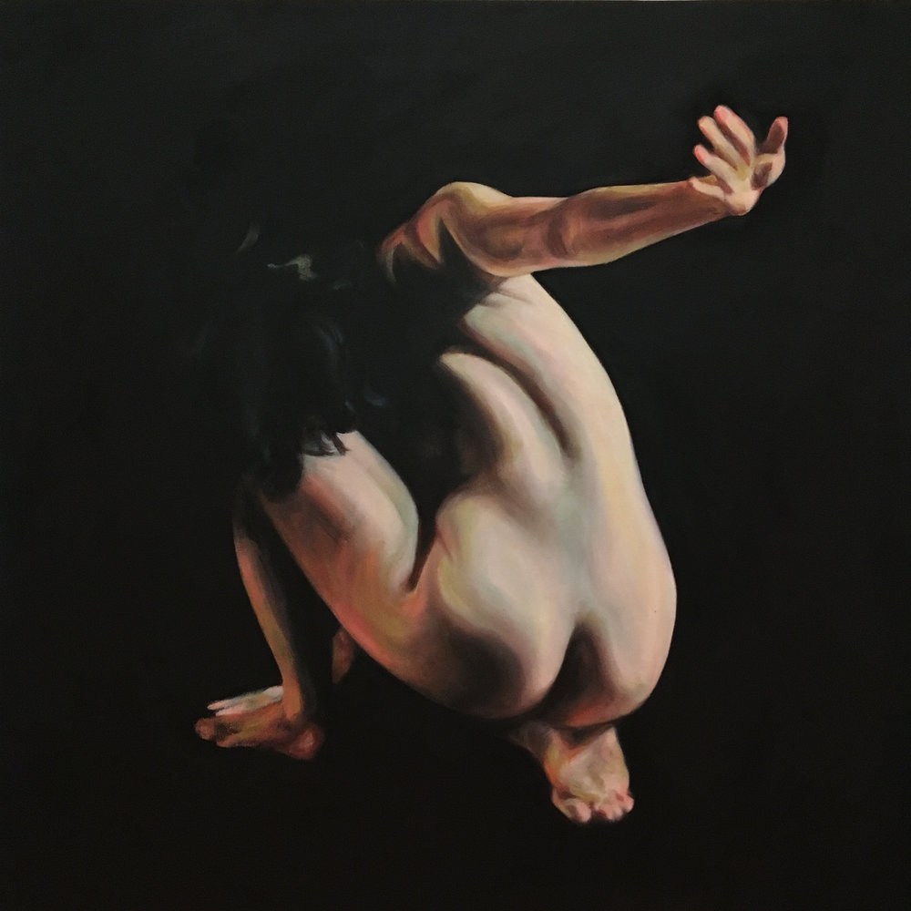 "Talk to the Hand, Oil on Canvas, 30x30"", 207"