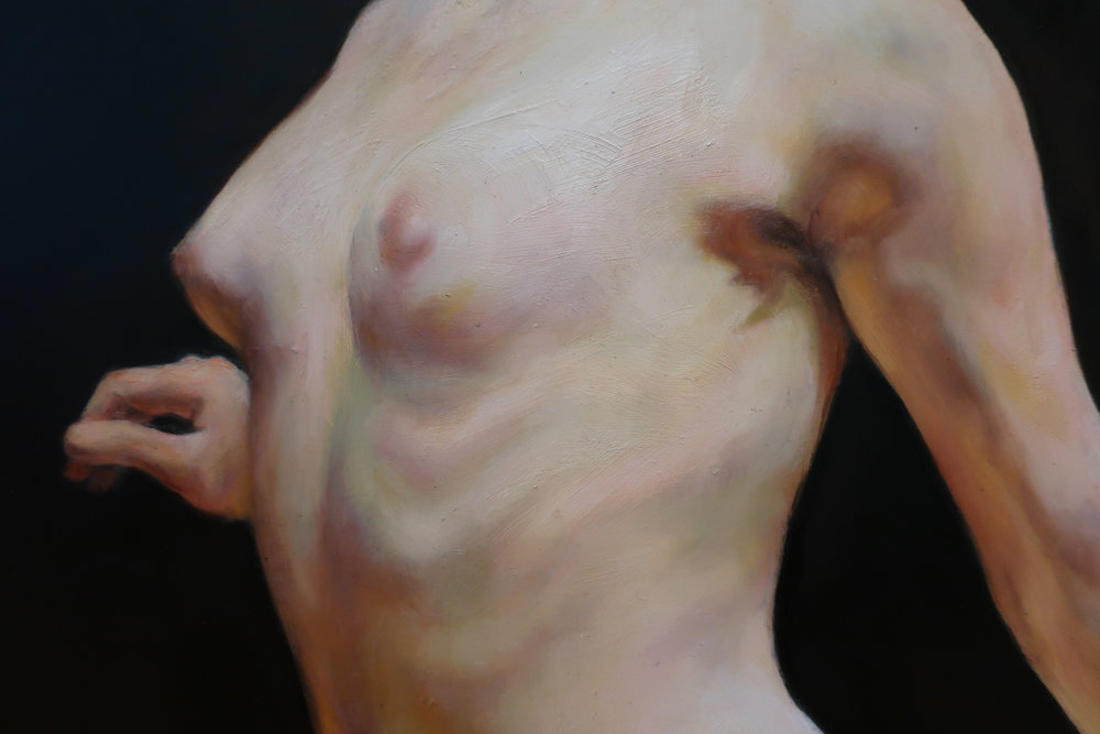 "Rise (detail), Oil on Wood, 36x24"", 2017"