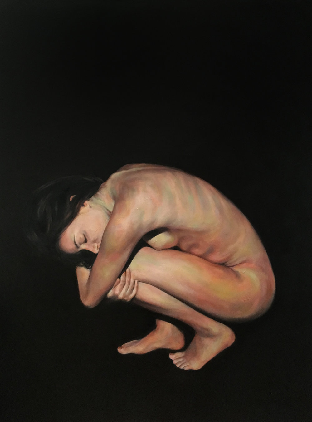"Cocoon, Oil on Canvas, 48x36"", 2017"