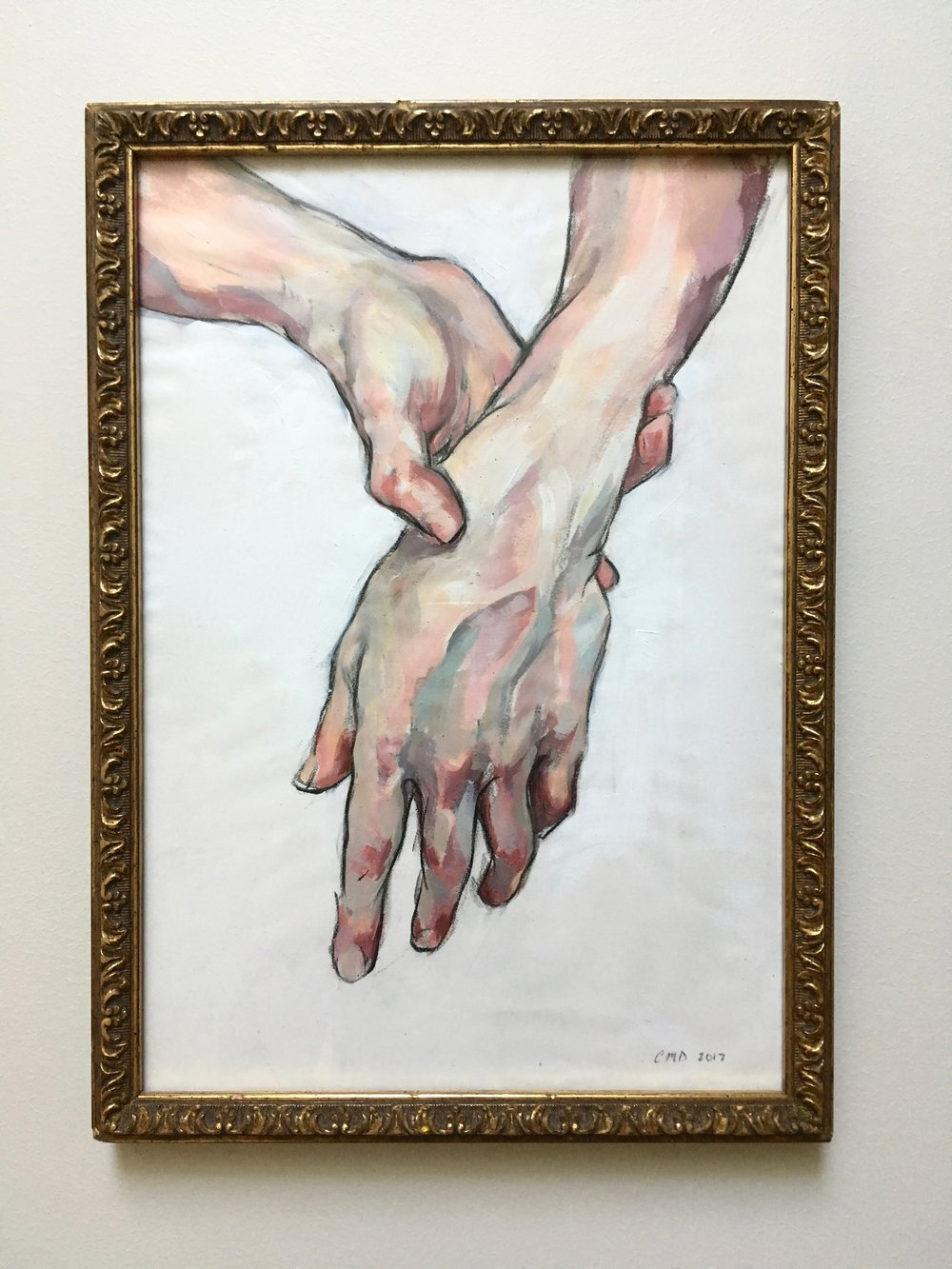 "Slack Wrist, Acrylic on Paper, 14x10'"", 2017"