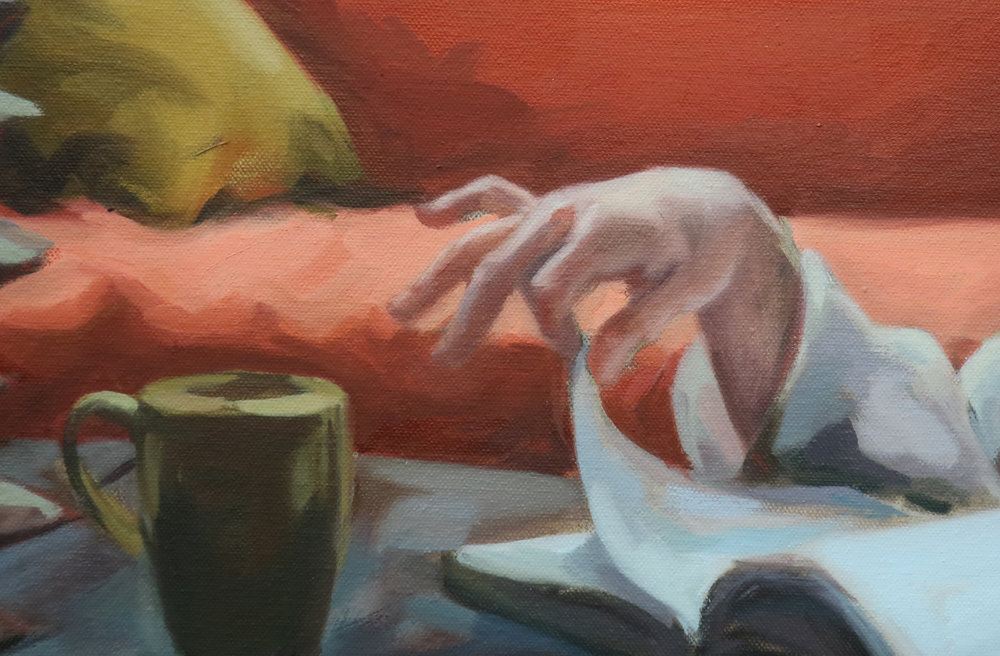 Higher Self (Detail), 2019 Oil on Canvas, 30x40""