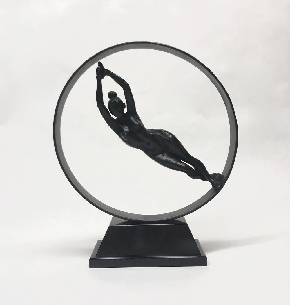 "Orbit, 9 3/4 x 9 3/4 x 1 1/4 "", Bronze, 2017 (Edition of 6)"