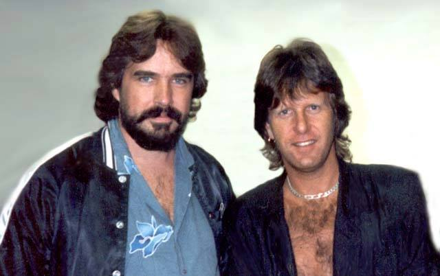 Keith and I backstage in October of 1986.