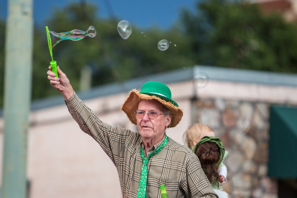Granpa's blowin' bubbles again