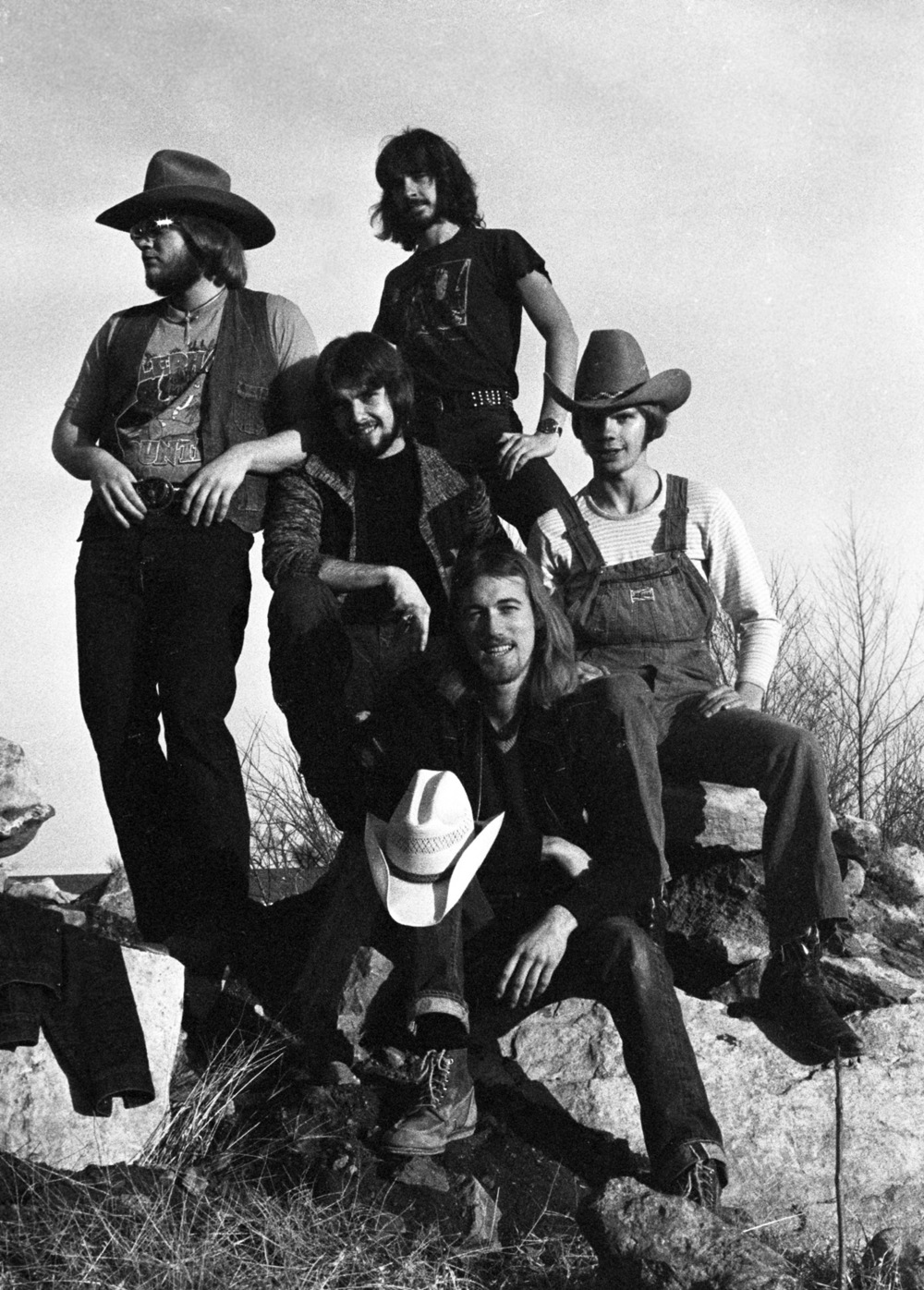 The Amazing Jackalopes circa 1977 (l-r): Drummer Jack Propps, Bassist Jeff Donachy,  Keyboardist Brian Wilson,  Guitarist Jeff Hett and Guitarist Jack Clift.