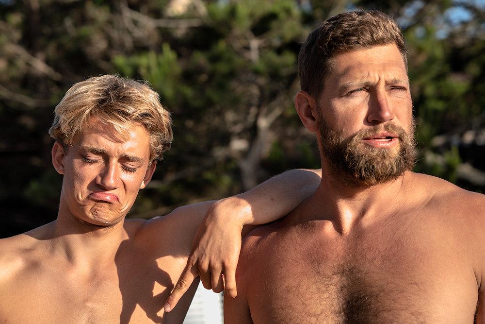 Surfer dudes.