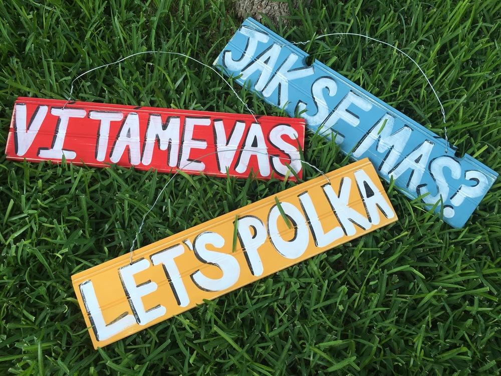 Polka Festival Czech Signs