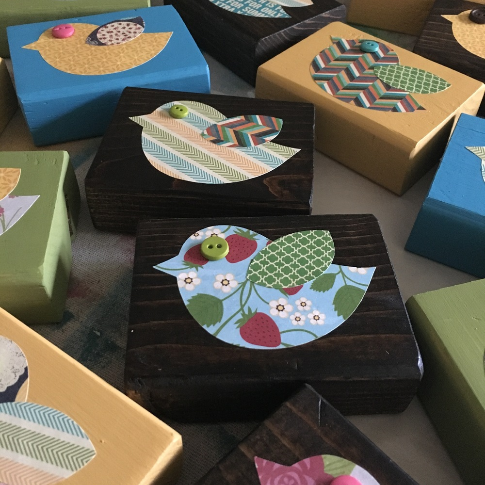 Wood Bird Blocks