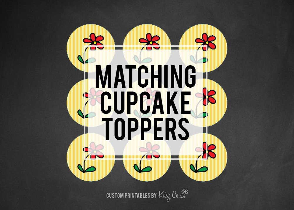 Circle Cupcake Toppers