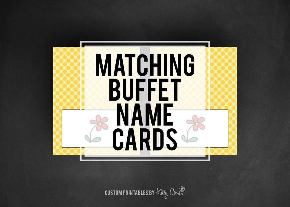 Buffet Name Cards