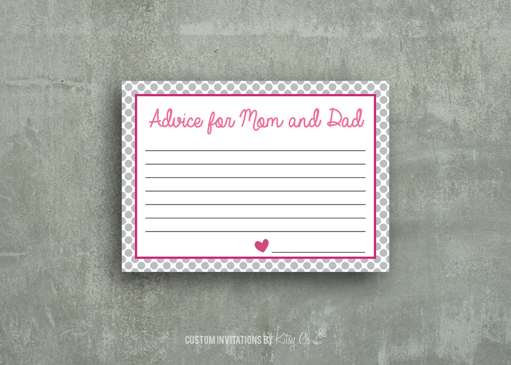 Advice for Mom and Dad