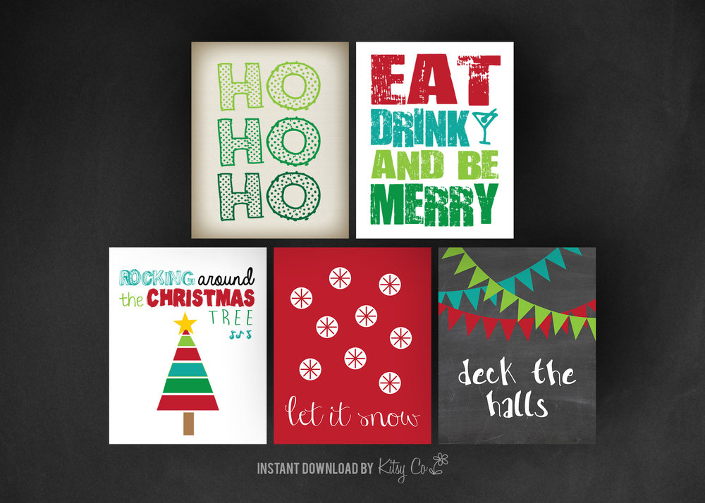 Christmas Art Print Set 1