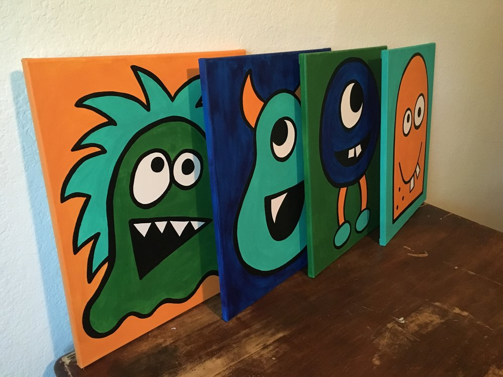 16x20 Kids Monster Set - $150