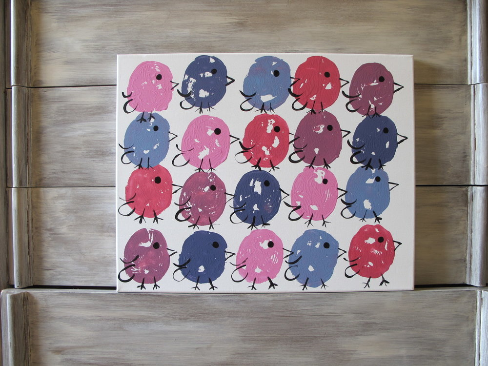 16x20 Repeat Girly Birds - $50