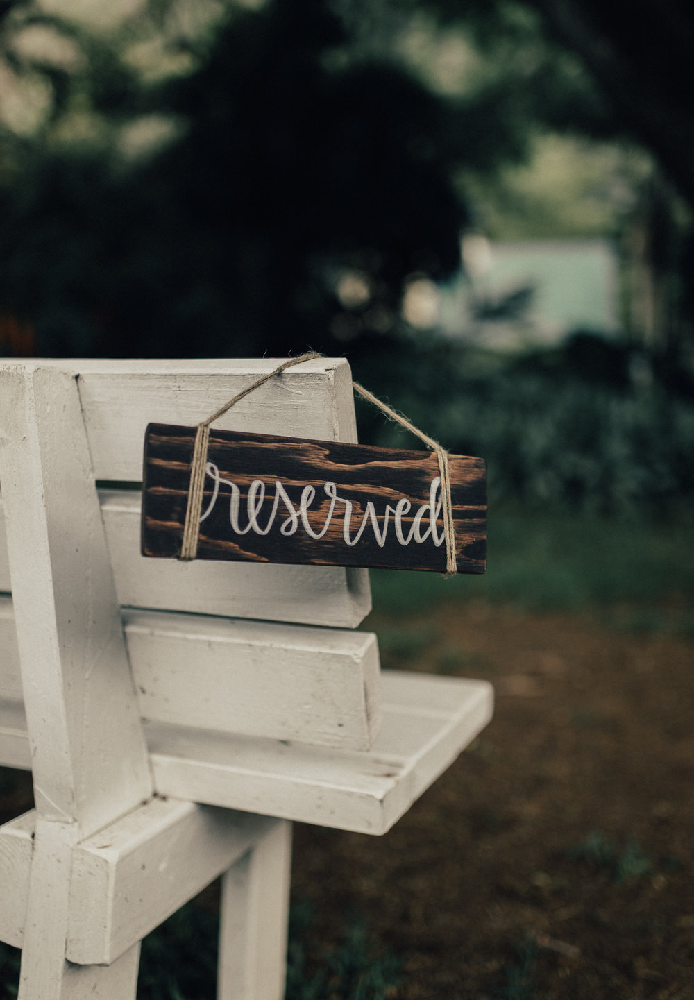 Wedding Reserved Sign
