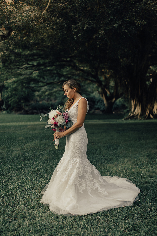 Bride at Waimea Valley