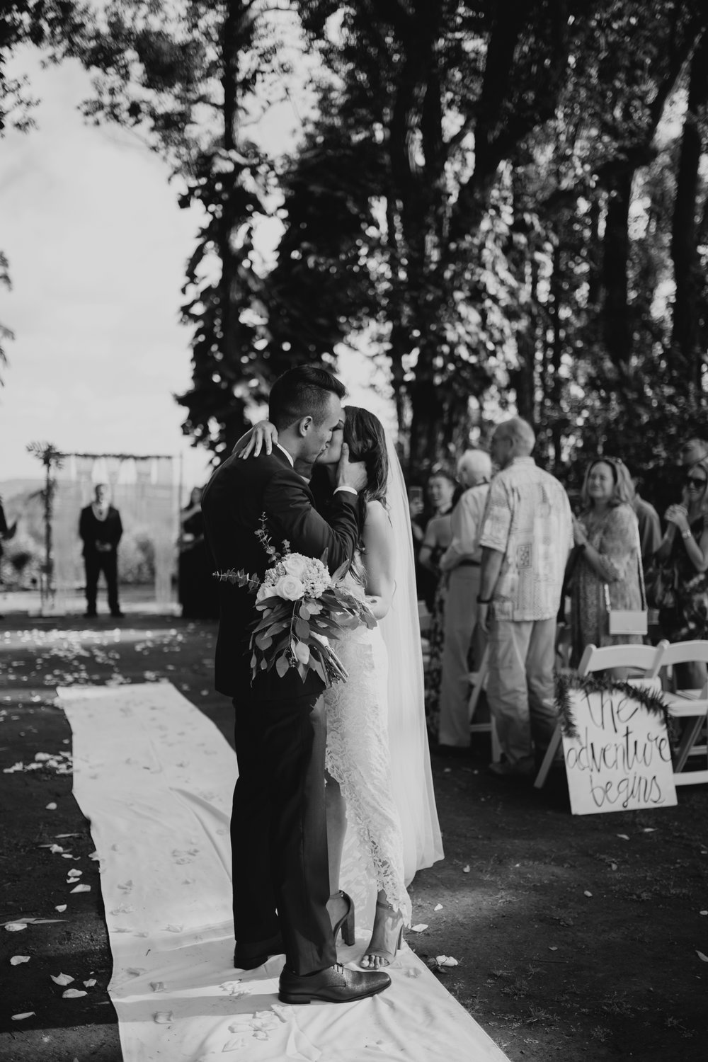 Sunset Ranch Hawaii Wedding Ceremony
