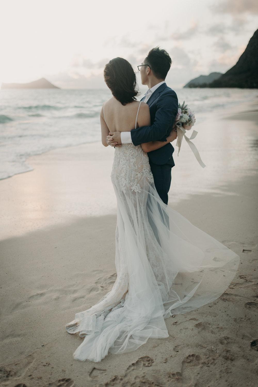 Waimanalo Beach Sunrise Wedding