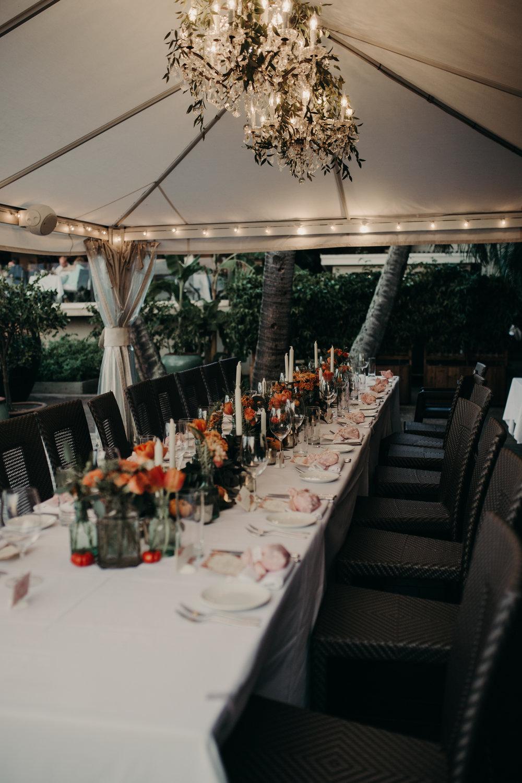 Merriman's Maui Kapalua Wedding Reception