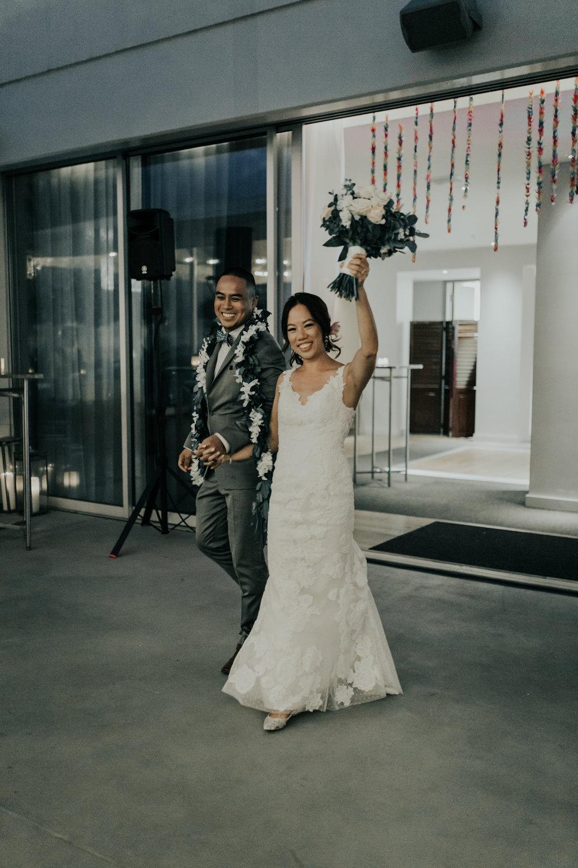 The Modern Honolulu Wedding Reception