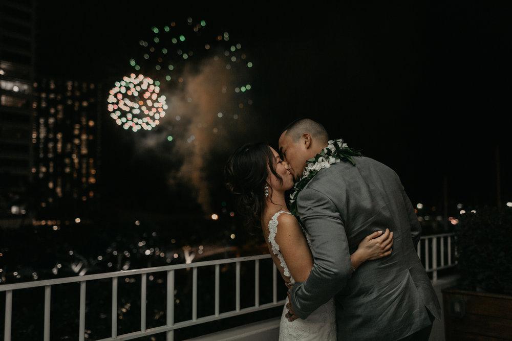 Waikiki fireworks from The Modern Honolulu