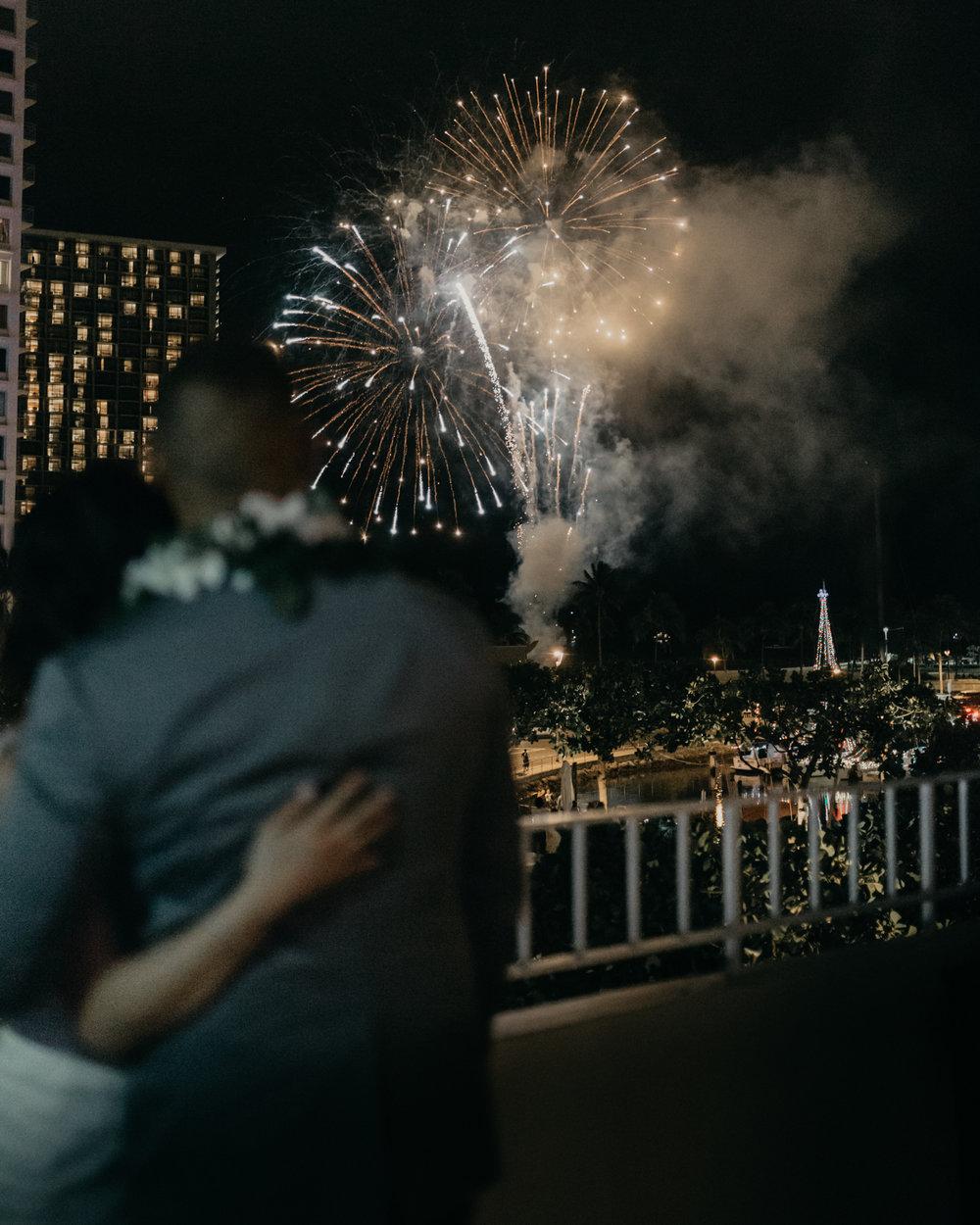 Waikiki Fireworks Wedding
