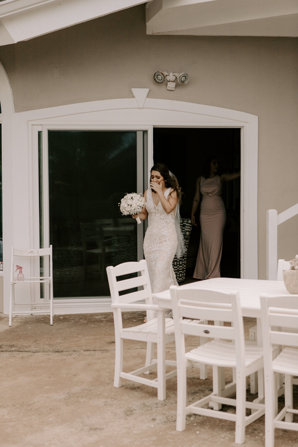 Bride seeing the groom for the first time