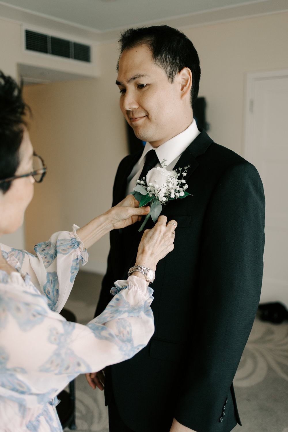 Kahala Hotel Groom Getting Ready Oahu Wedding Photographer