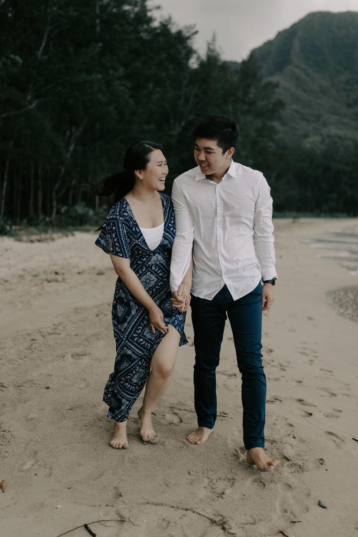 Kahana Bay Engagement Session by Desiree Leilani Oahu Wedding Photographer