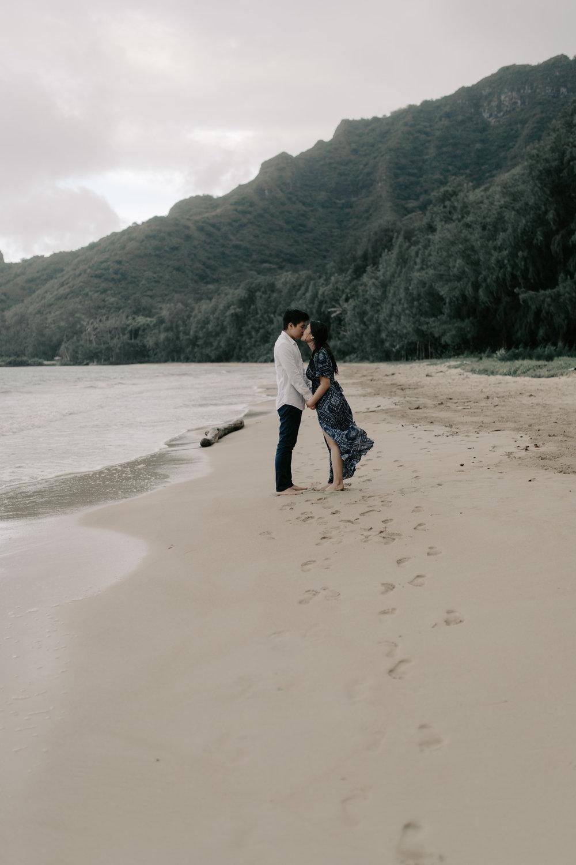 Kahana Bay Engagement Session by Desiree Leilani Hawaii Wedding Photographer