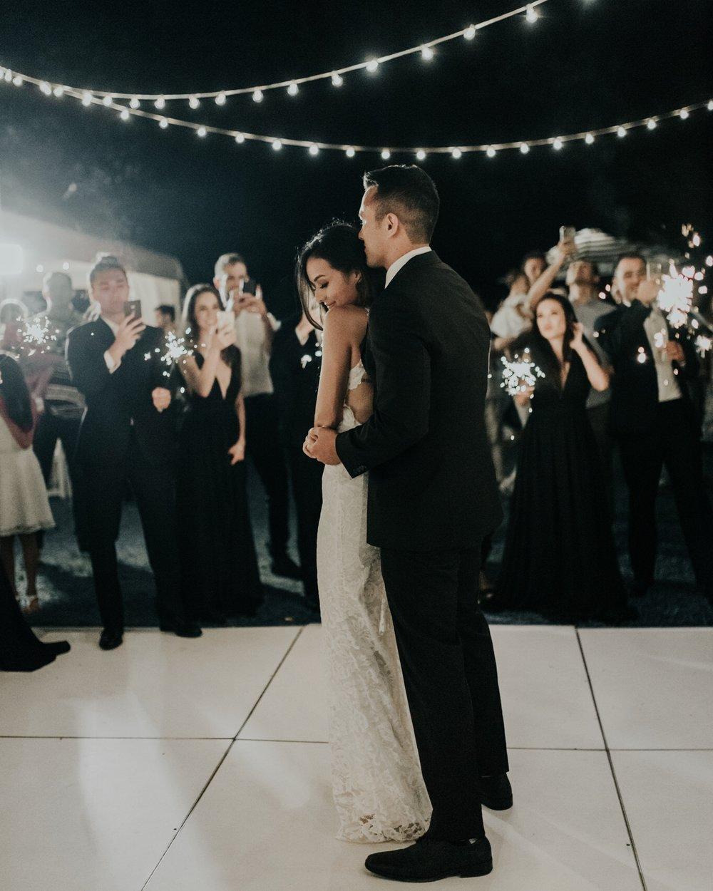 Sparkler First Dance Wedding Ideas