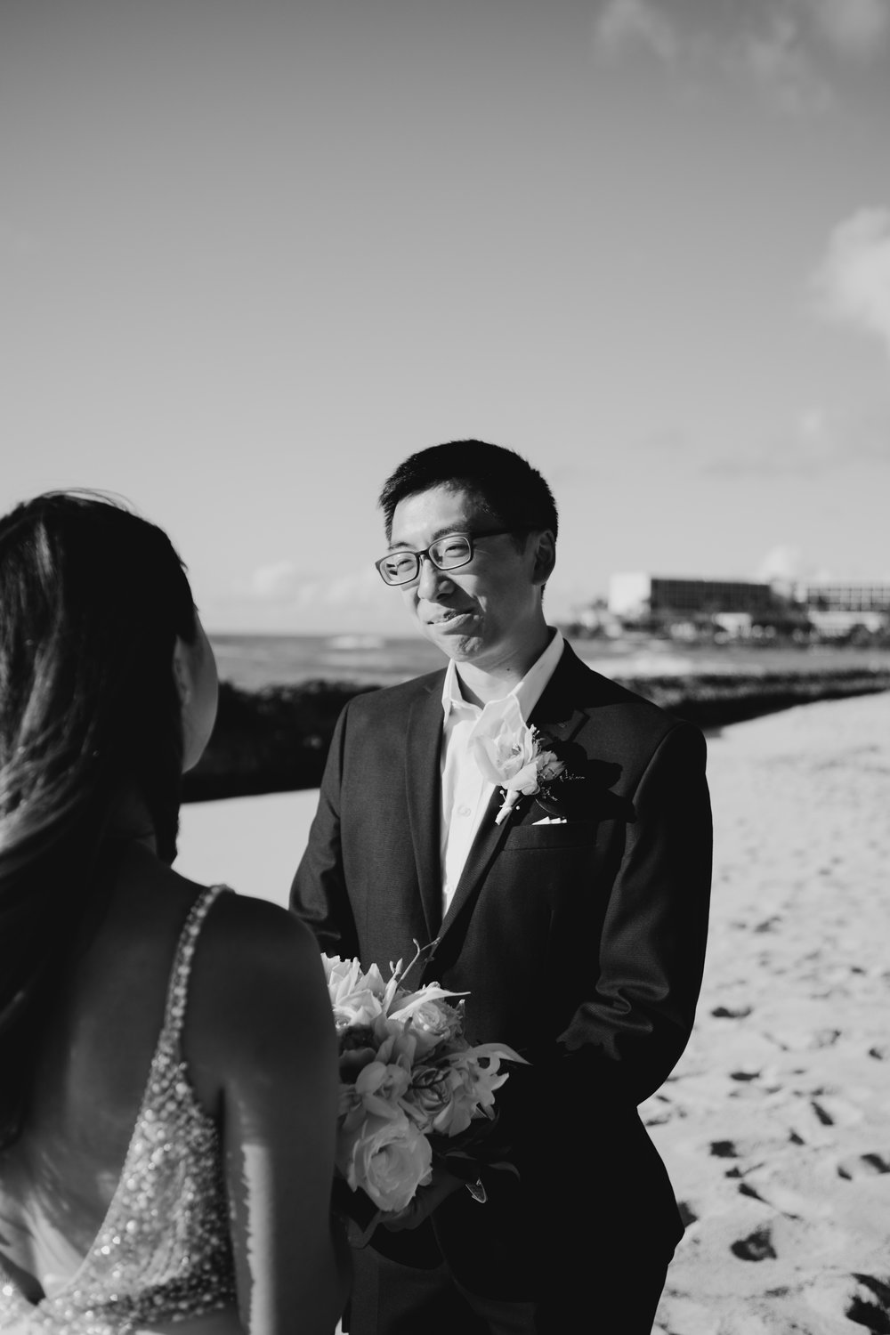 Stables Beach at Turtle Bay Resort Wedding by Hawaii Fine Art Wedding Photographer Desiree Leilani