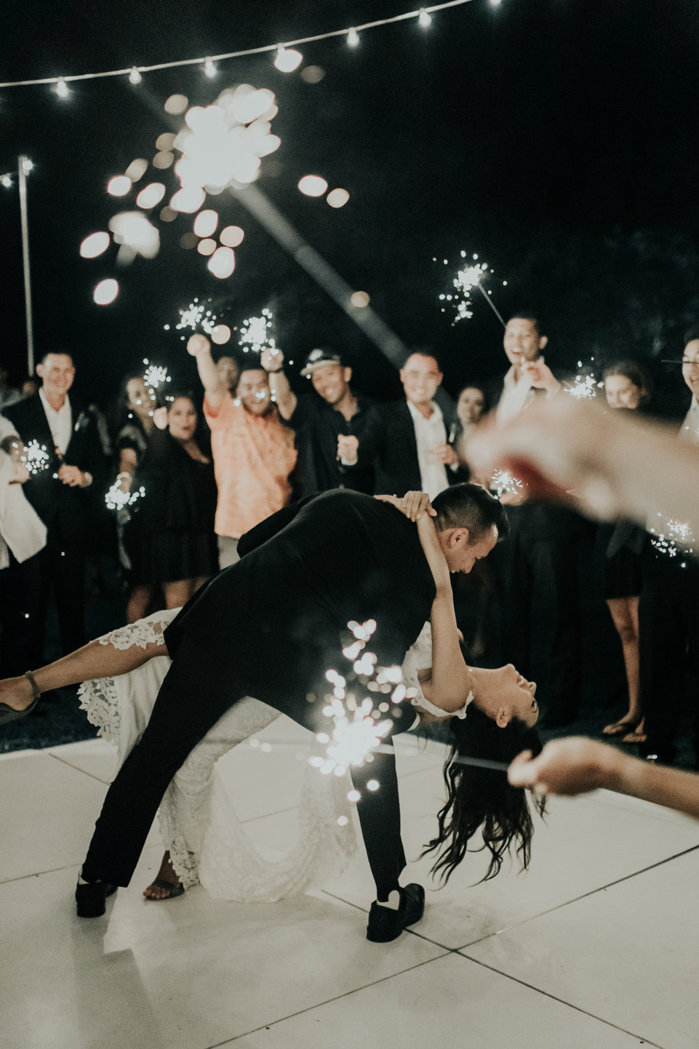 Sparklers First Dance Idea by Hawaii Wedding Photographer Desiree Leilani