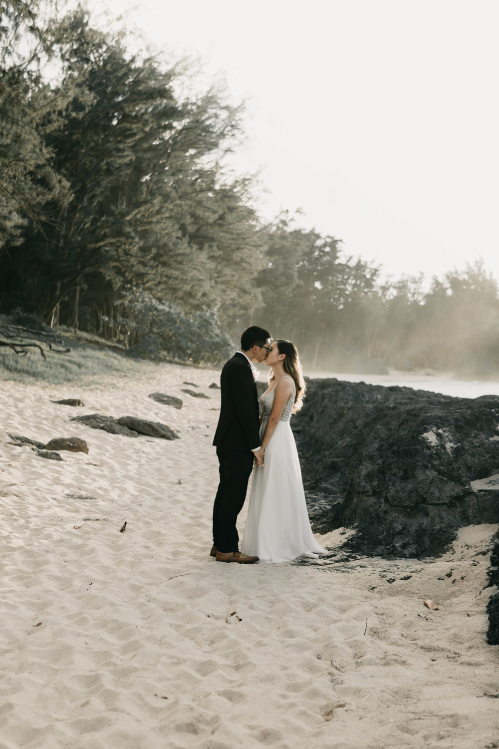 Turtle Bay Stables Beach Wedding  By Hawaii Wedding Photographer Desiree Leilani