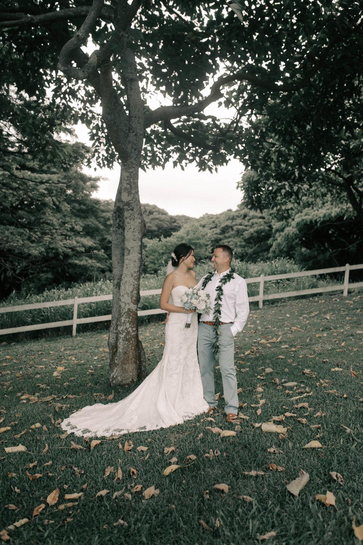 Kualoa Ranch Paliku Gardens Wedding. Photography by Hawaii fine art wedding photographer Desiree Leilani