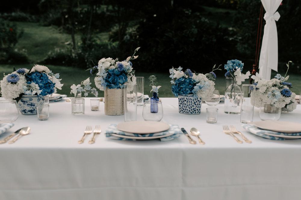 Tropical Hawaii Wedding Reception at Kualoa Ranch Paliku Gardens. Photography by Hawaii fine art photographer Desiree Leilani