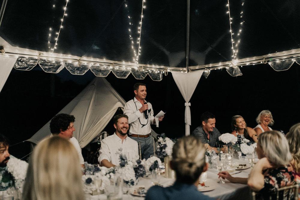Toasting the bride and groom at a Kualoa Ranch wedding. Photo by Oahu wedding photographer Desiree Leilani