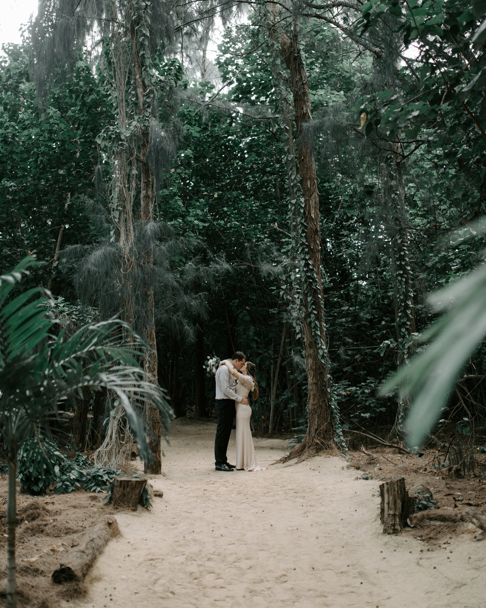 Tropical Hawaii Wedding | Kualoa Ranch Secret Island Elopement by Hawaii Wedding Photographer Desiree Leilani