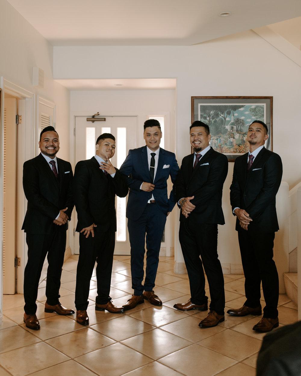 Groomsmen photo by Hawaii wedding photographer Desiree Leilani