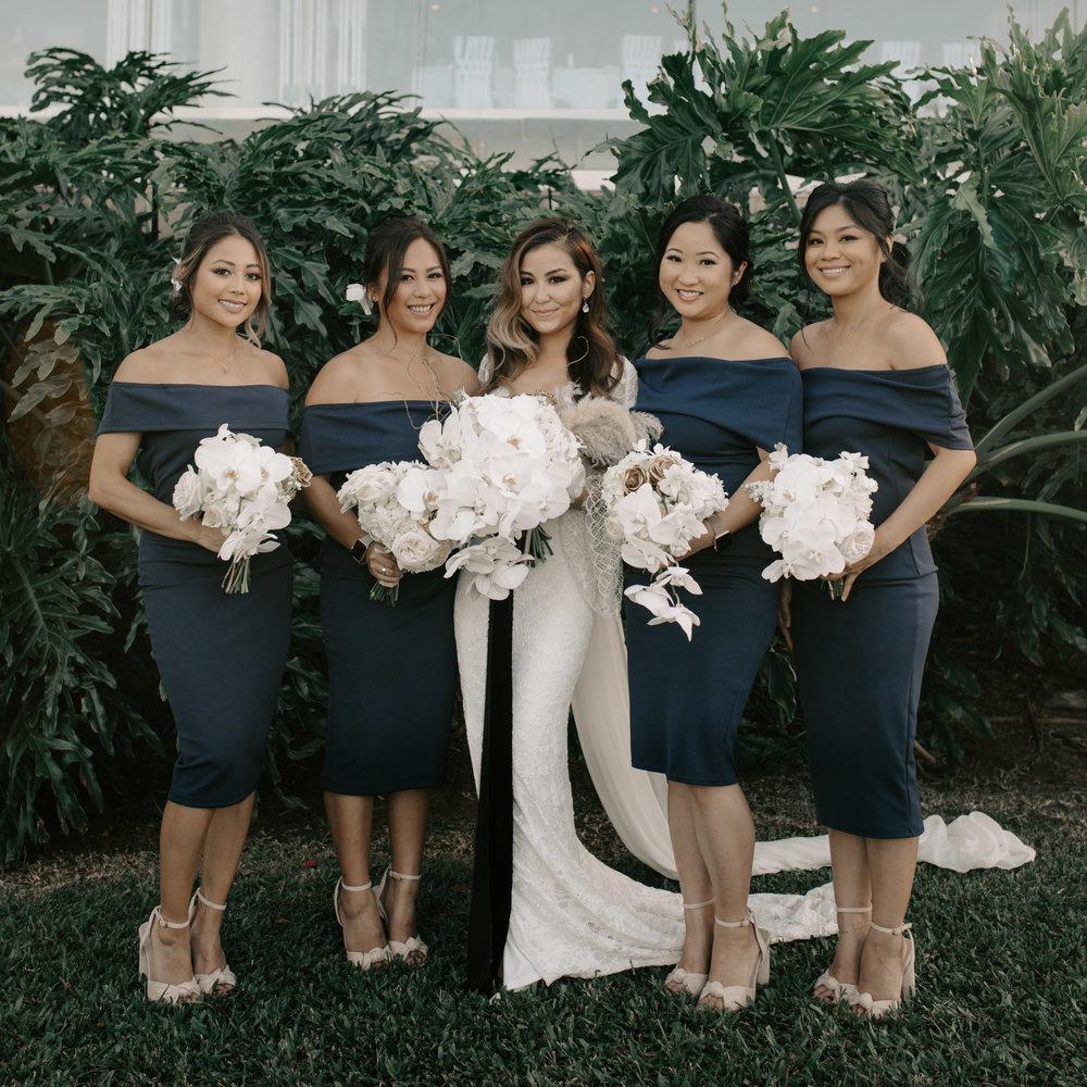 Bridesmaids portrait | Merriman's Kapalua Maui wedding by Hawaii wedding photographer Desiree Leilani