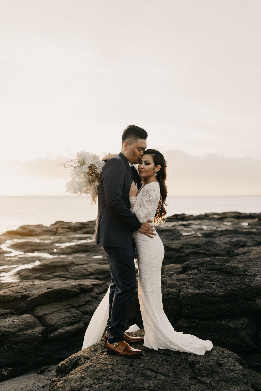 Grace Loves Lace Piper Wedding Gown | Merriman's Kapalua Maui wedding by Hawaii wedding photographer Desiree Leilani