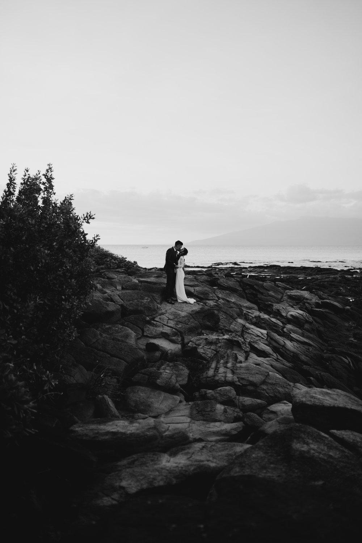 Gorgeous moody wedding photos | Merriman's Kapalua Maui wedding by Hawaii wedding photographer Desiree Leilani