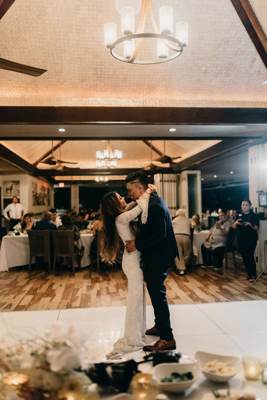 Bride and groom first dance | Merriman's Kapalua Maui wedding by Hawaii wedding photographer Desiree Leilani